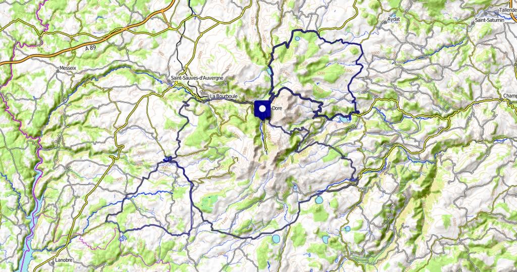 Voyage à vélo - trois jours en Auvergne