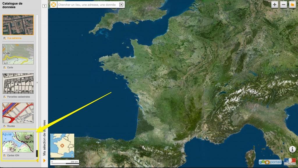 Utiliser Géoportail pour trouver le spot de votre prochaine microadventure.