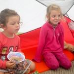 Petit déjeuner sous la tente.