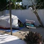 Camping face au lagon