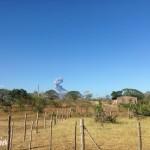Eruption volcanique pour célébrer la fin d'une difficile journée.