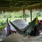 Notre campement sous abris